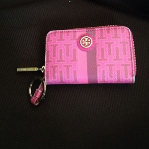 Authentic Tory Burch keychain wallet