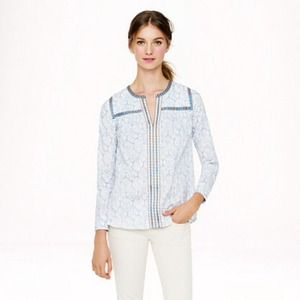 Jcrew Tops - Jcrew block print cotton top