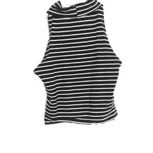 Black & White stripes American Apparel Crop Top