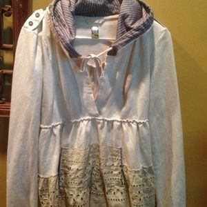 Free People Tunic/Sweatshirt large NWOT