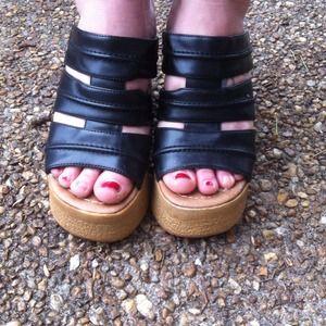 Mudd chunky heel on Poshmark