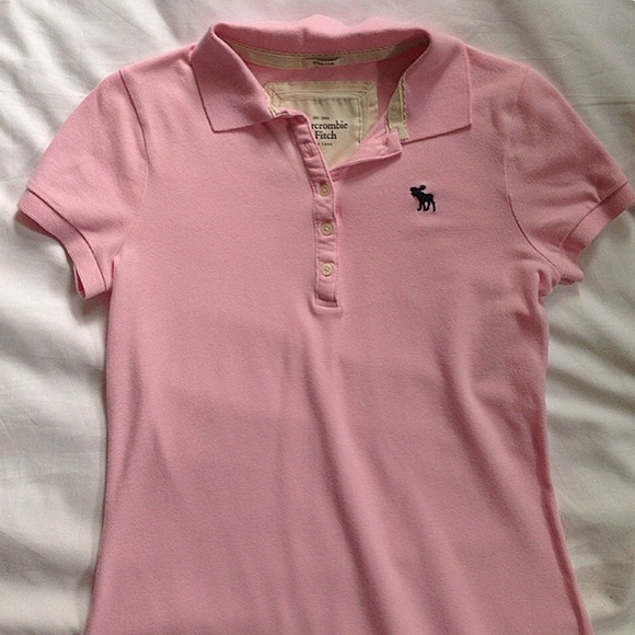 Abercrombie And Fitch Pink Polo