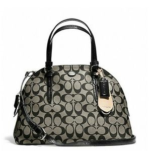 Coach Handbags - FINAL PRICE NEW Coach signature domed satchel