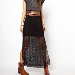 ASOS Dresses & Skirts - ASOS River Island lace side slit skirt