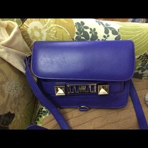 Proenza Schouler PS11 Mini bag in Purple Rain LOOK