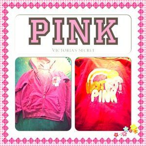VS Pink Zip Hoodie Size Medium