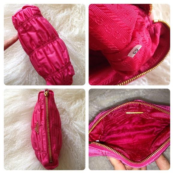 handbags by prada - 52% off Prada Handbags - ??SOLD??Hot Pink Prada Ruched Nylon ...