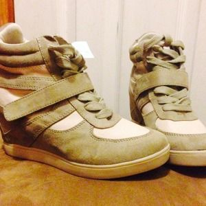 Shoes - hot wedge sneakers NWT