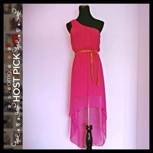 Hot Pink Hi-Low Dress