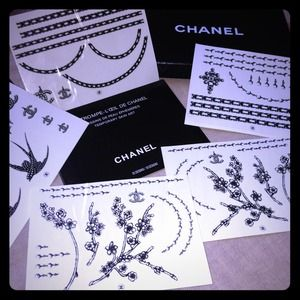 100% Auth CHANEL Les Trompe L'Oeil TEMP TATTOOS