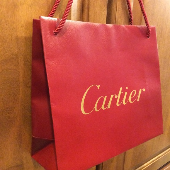 cartier - 💯 Authentic Cartier gift shopping paper bag from Malu's ...