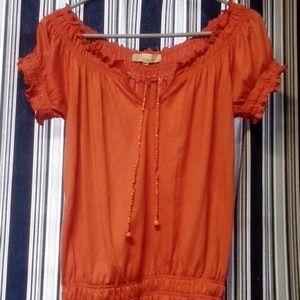 Derek heart orange blouse