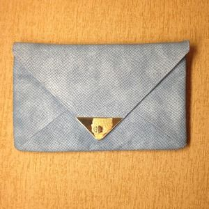 ASOS blue clutch