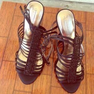 BCBG max azria black heels worn once!
