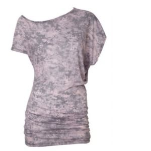 Tops - SOLD OUT Pink Distressed Off The Shoulder Tunic