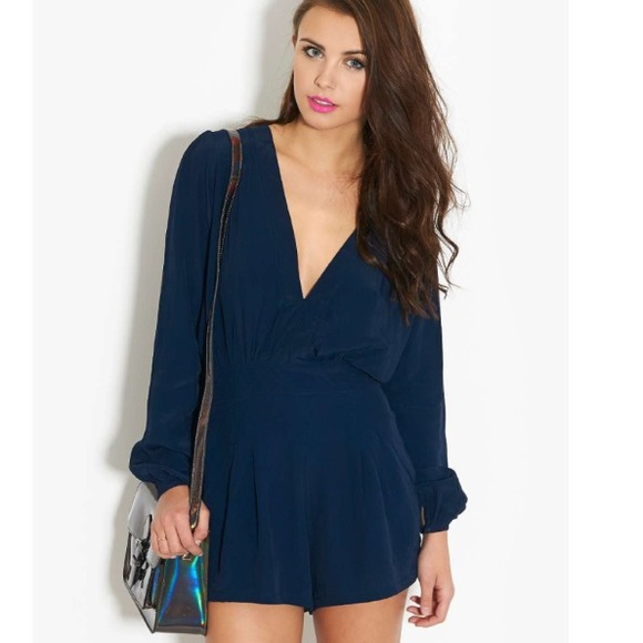 e7083e892f64 LOWEST 1DAYSALE!💥Motel Jet Plunge Neck Playsuit NWT