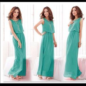 Maxi pant dress