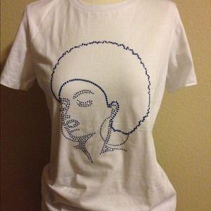 Inspired Diva Tops - Afro Diva bling t- shirt