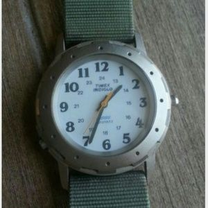 Vintage hipster timex watch water resistant metal