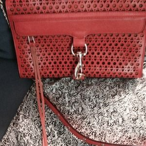 Rebecca Minkoff Handbags - Rebecca Minkoff MAC perforated NWT in persimmon