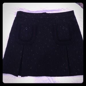 See by Chloe black mini skirt with metallic detail