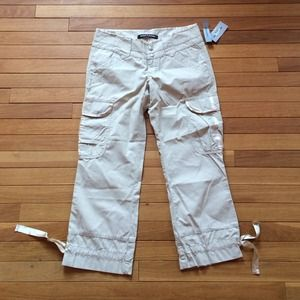 Brand new cropped DKNY khakis