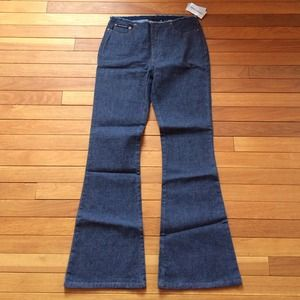 Brand new DKNY denim jeans with fray waist