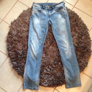 ONLY Jeans straight cut light blue denim Sz 4