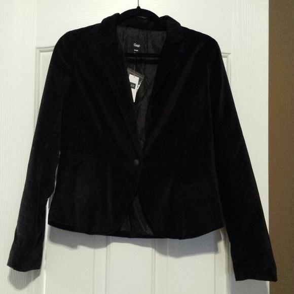 Gap Jackets Coats Velvet Black Tuxedo Jacket Womens Poshmark