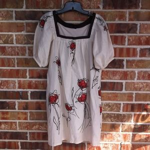 NWT BCBG Sketched Rose Dress
