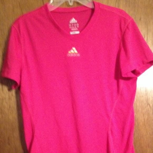 63 off adidas tops hot pink adidas athletic shirt from for Hot pink running shirt