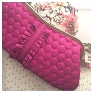 Chain Purse Bag And Clutch Bag Fuchsia Hot Pink