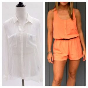 Forever 21 Dresses & Skirts - Light Orange Shorts Romper