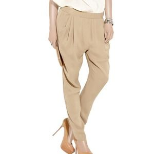 3.1 Phillip Lim Pants - 3.1 Phillip Lim silk khaki harem pants
