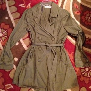 Army Green DKNY JEANS coat