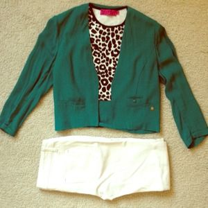 Silk Crepe Crop Jacket