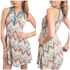 Bohemian Zig Zag Summer Dress