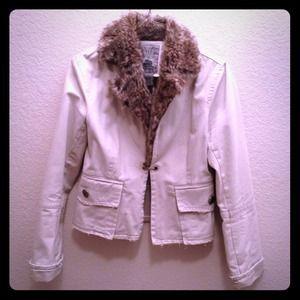 Faux Fur Canvas Jacket