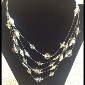 Jewelry - 5 strand acrylic bead necklace