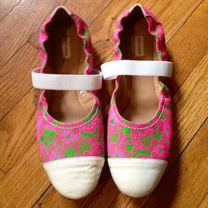 Marc Jacobs Shoes - Marc Jacobs Lace & Patent Cap Toe Ballet Flats