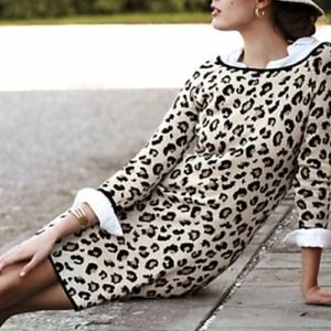 Anthropologie Leopardo Sweater Dress