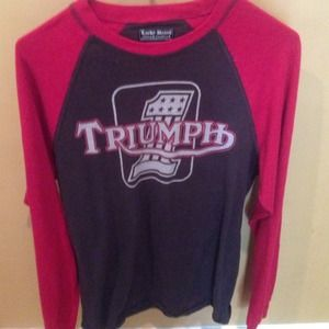 Lucky Brand Vintage Inspired Triumph T-shirt XS