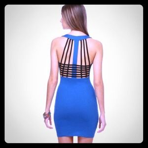 Robin blue cage back dress