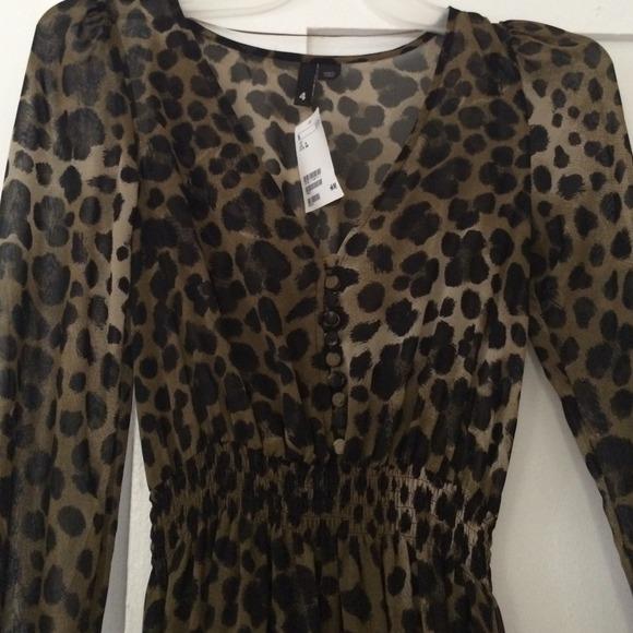 b18675064e H M leopard chiffon maxi dress