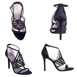 Guess black rhinestone stilettos