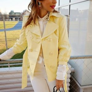 Jackets & Blazers - Spring Yellow Trench coat Jacket
