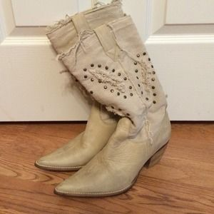 Penny ❤️ Kenny Boots - 💗CLOSETCLEAROUT💗NEW Boho Boots w Fabric Upper