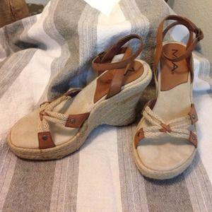 Tan Leather Wedge SandalFINAL PRICE