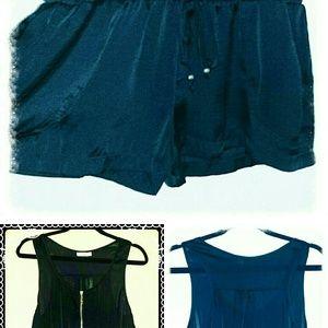 Dresses & Skirts - Silky Black Romper *New Markdown *