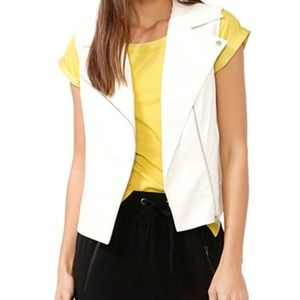 Forever 21 Tops - Faux leather moto vest